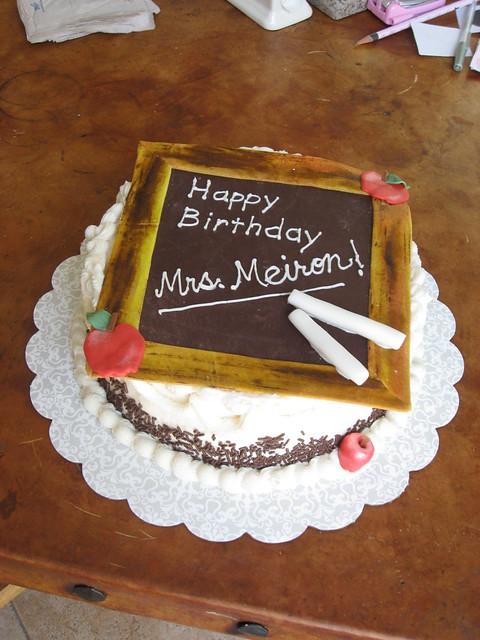 Teacher birthday cake  Flickr - Photo Sharing!