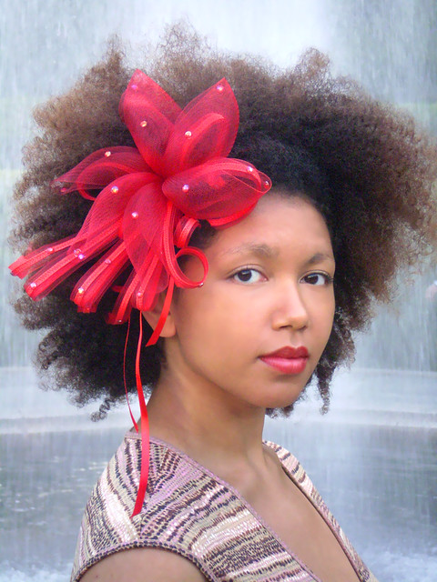 hair style flower hair accessories headband crin fascinator afro 4711