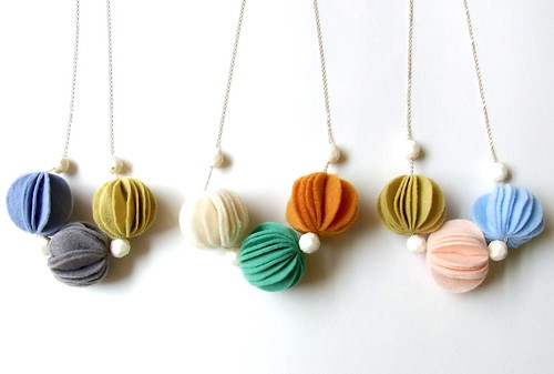 Small size Kuru Maru felt ball necklace!