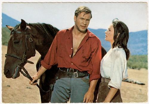 Götz George and Karin Dor in Der Schatz im Silbersee