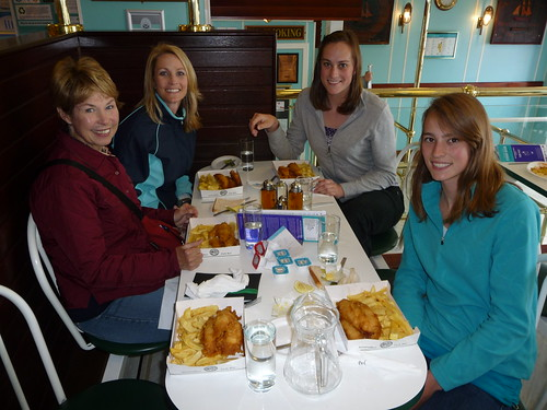 Tour Guest Diners at Anstruther Fish Bar