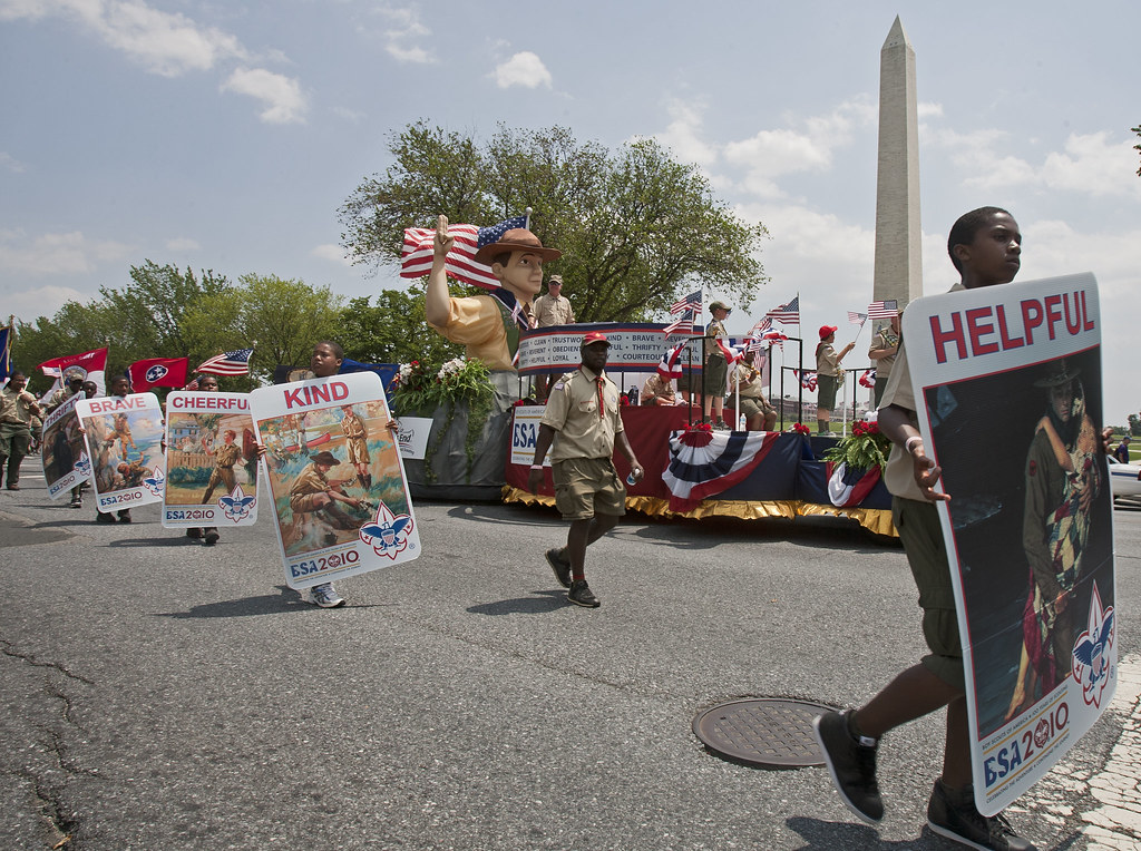 Scouting's decades parade through D.C.