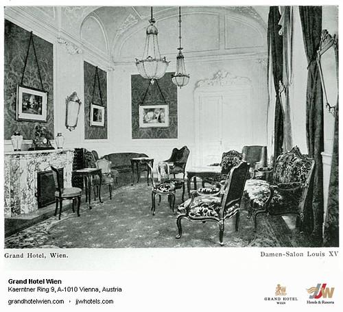 Historic Photo - Old Damen Salon at Grand Hotel Wien in Vienna