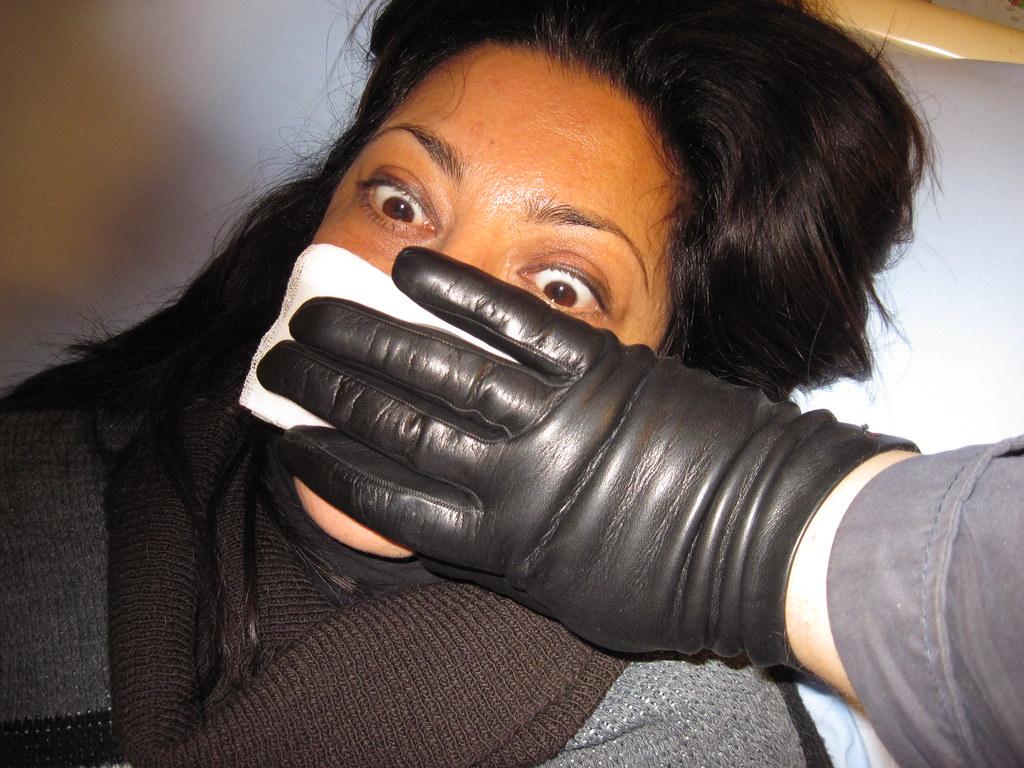 Leather Glove Handgag-5809