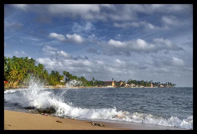 Beruwala shoreline