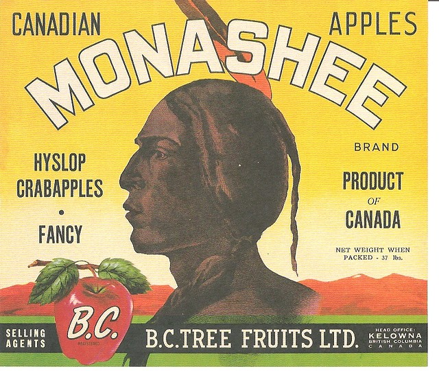 Monashee Apple Crate Label