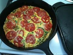 meal, frittata, pizza, food, dish, european food, cuisine, pepperoni,