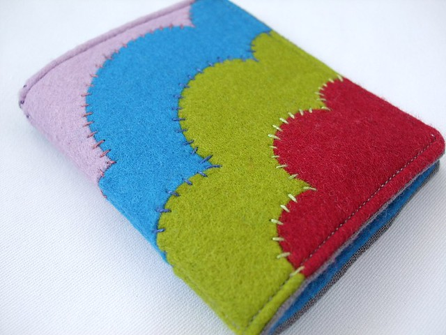 Handmade Felt Book Cover : Deco style needle book with felt applique flickr photo
