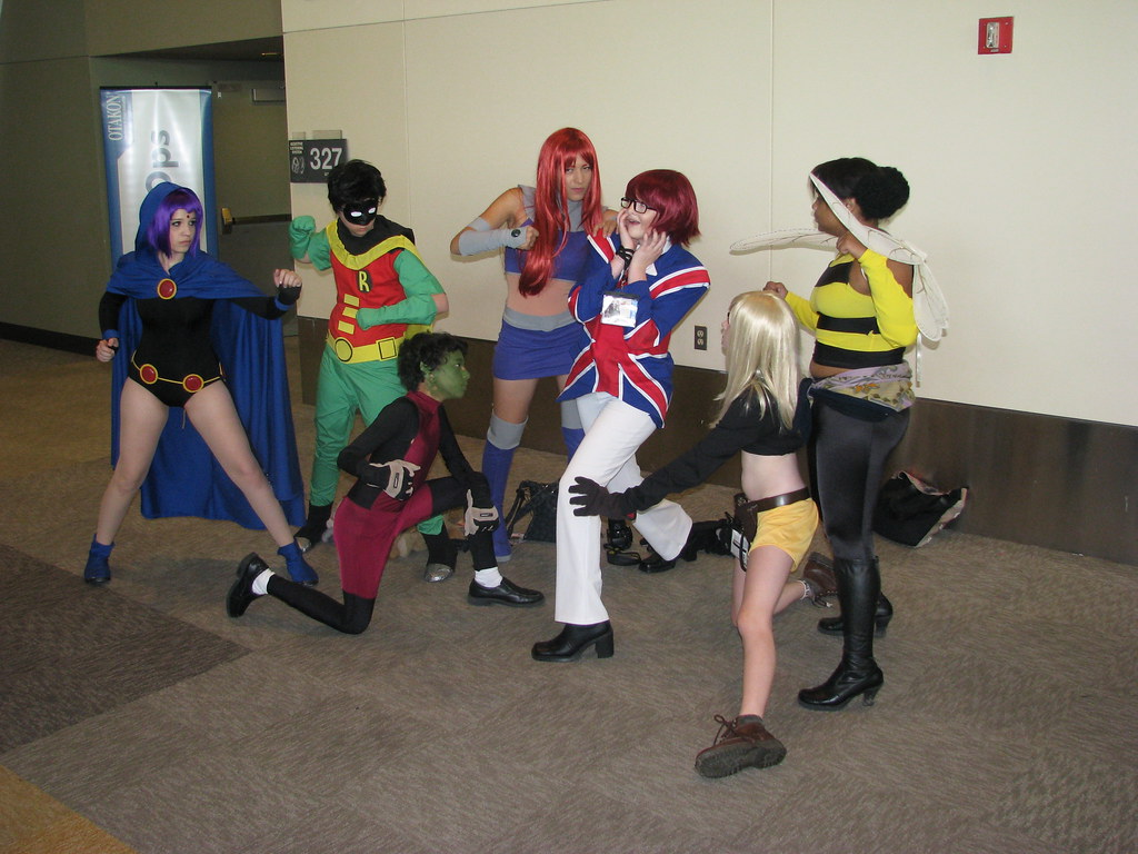 ... Teen Titans surround Mad Mod   by snake_eyes_llc