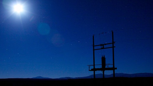 longexposure moon tower night stars power nevada luna electricity transmission