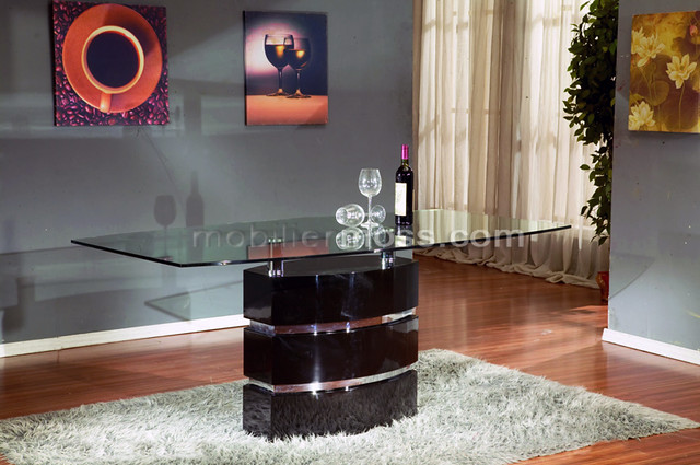 Luminella table de salle manger design en verre - Table de salle a manger en verre ikea ...