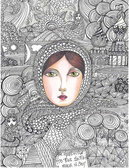 Zentangle Portraits Color A Gallery On Flickr