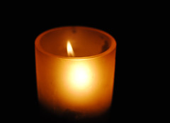 orange, flameless candle, candle, yellow, light, flame, lighting,