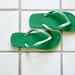 flip-flops on tile floor