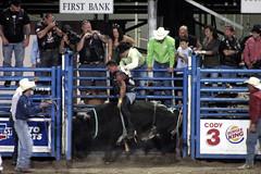 equestrian sport(0.0), barrel racing(0.0), animal sports(1.0), rodeo(1.0), event(1.0), sports(1.0), bull riding(1.0),