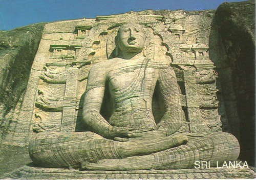 Buddha rock carving Sri Lanka postcard - available