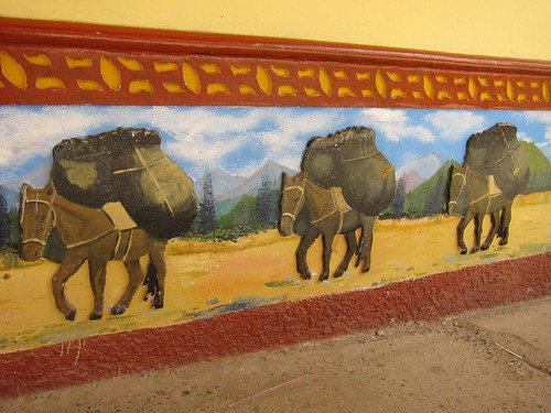 The colorfully painted panels of Guatape.