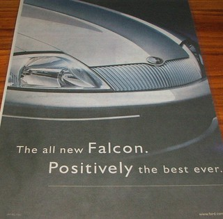 1998 Ford AU Falcon Sedan Ad