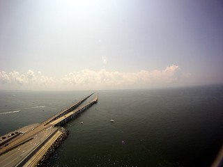 Tight and Light - Kite Over The Chesapeake Bay Bridge Tunnel