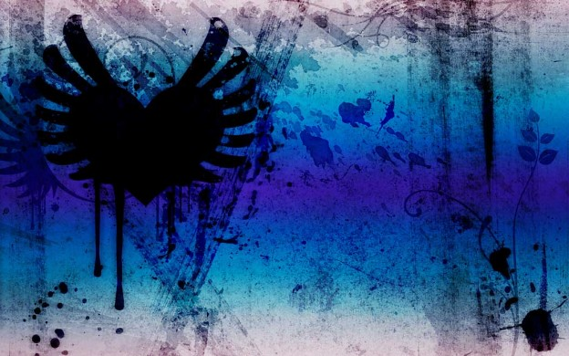 grunge hearts indigo mauve wallpaper flickr photo sharing
