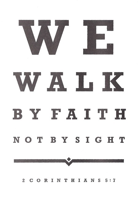 christian - eye chart  walk by faith
