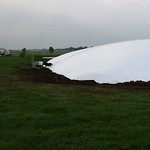 inflated manure storage cover C