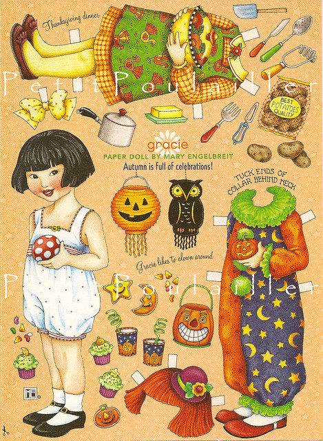 PetitPoulailler Mary Engelbreit Paper Doll, Gracie