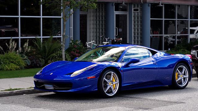 blue 458 italia image - Ferrari 458 Italia Blue