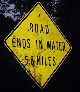 Road ends in water 5.8 miles