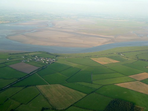 Wall Mile 75 and Drumburgh from the air
