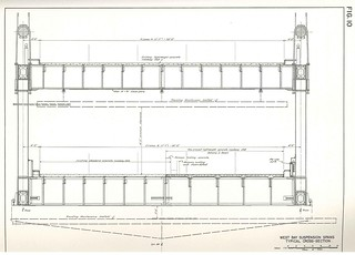 San Francisco Oakland Bay Bridge Proposed Revisions: West Bay Suspension Spans Typical Cross-Section (1957)