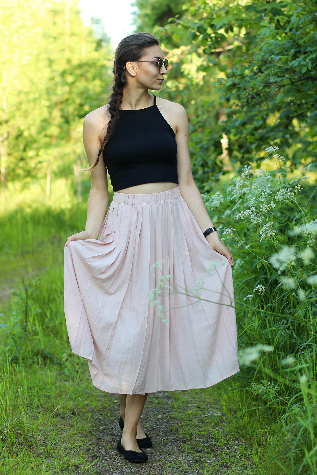 pleated skirt outfit 5