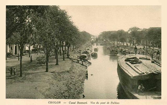 22 Cholon - Canal Bonard - vue du pont de Palikao