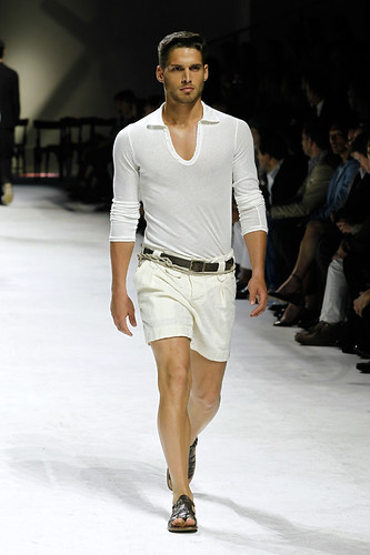 Dolce & Gabbana Man Fashion Show casual male model