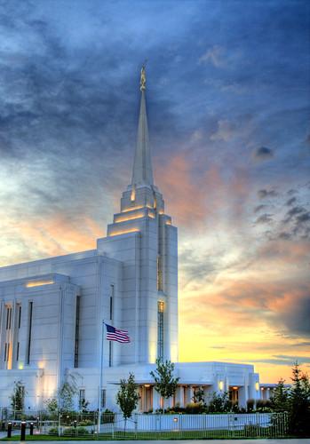 sunset temple idaho mormon lds hdr rexburg