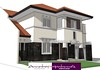 Sketsa Rumah Art Deco Aksen Batu Alam