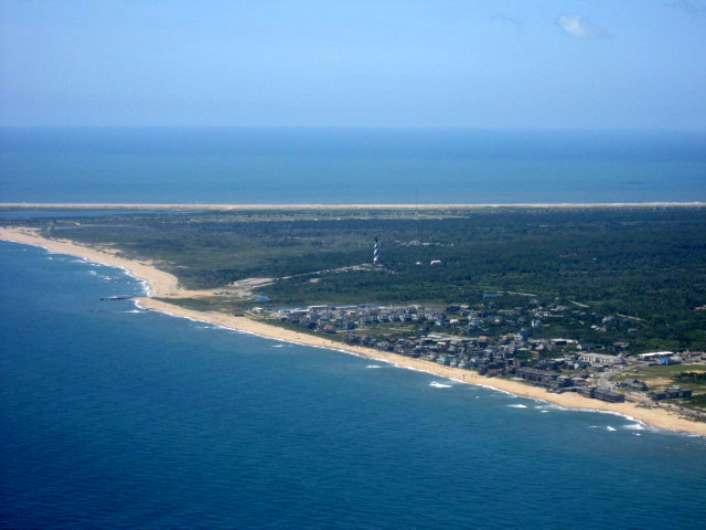Cape hatteras lighthouse buxton nc birdseye view for Cape hatteras fishing report