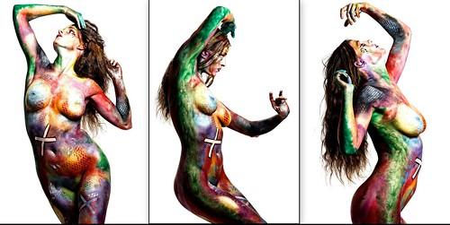 Art Body Painting Mila Avani  Peinture sur Corps