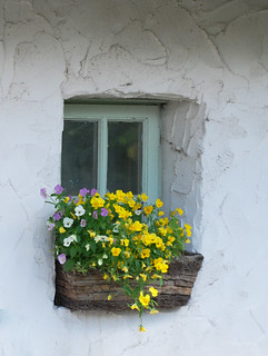 Thatched cottage window Ireland
