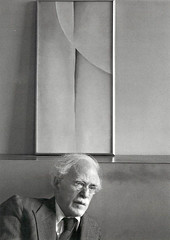 Alfred Stieglitz (artwork by Georgia O'Keeffe), by Ansel Adams 1944