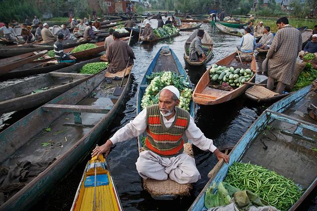 Vegetable market - Srinagar, Kashmir
