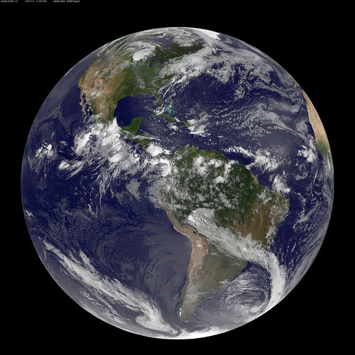 NASA GOES-13 Full Disk view of Earth July 14, 2010