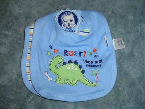 Baby bibs dinosaur