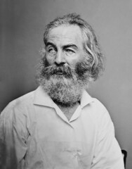 Walt Whitman, by Matthew Brady c.1855-65 (restored)