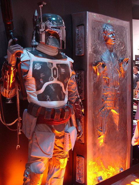 Comic-Con 2006 - Boba Fett and Han Solo in Carbonite at the Lucasfilm booth