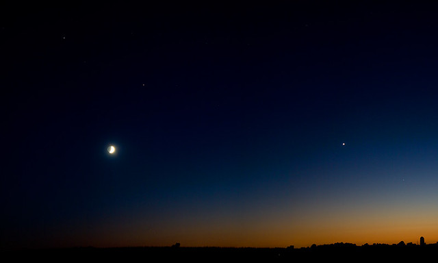 Twilight Moon & Planets
