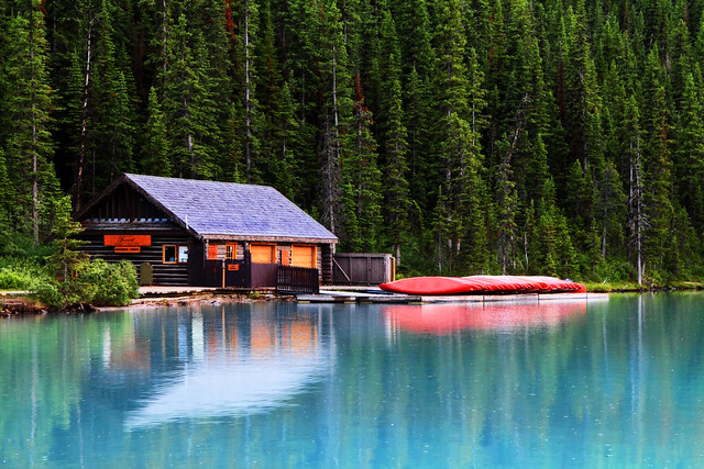 cabin on lake louise flickr photo sharing