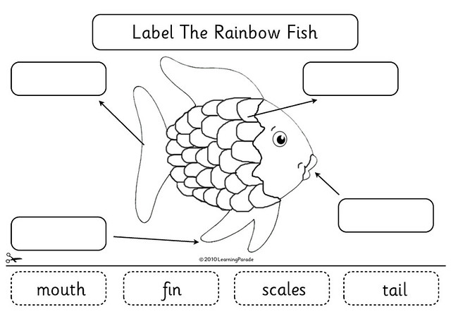 Rainbow Fish Activities Rainbow Fish Labels