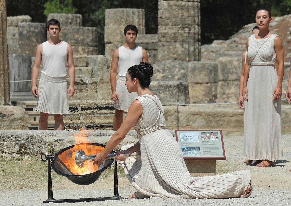 Flame Lighting Ceremony - Olympia, Greece