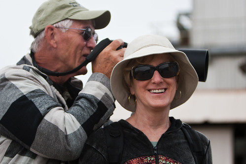 Photographer Jerry Kirkhart uses Photographer friend Cheryl Strahl as his tripod | by mikebaird